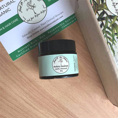 Probiotic Natural Deodorant by Just B Au Naturel